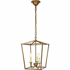 "Elegant Lighting LD6008D12G Maddox Collection 12"" 3-Light Pendant, Vintage Gold"