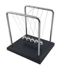 Newtons Cradle Steel Balls Pendulum Physics Science Ornament Desktop Art 15 cm