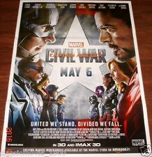 CAPTAIN AMERCA CIVIL WAR (2016) ORIGINAL MOVIE INDIA POSTER 27X37