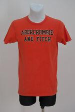 Homme Abercrombie & Fitch T shirt à manches courtes orange taille S small Très bon état