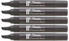 Sharpie W10 Permanent Chisel Bullet Nib Pen Black Ink Thick Tip Strong Durable