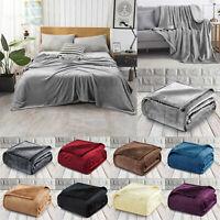 Super Soft Fleece Blanket Snuggle Throw Large Sofa Bed Faux Fur Mink Double King