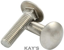 M8 x 90 Carriage Bolts Cup Square 8mm x 90mm Stainless Steel Coach Bolts x4