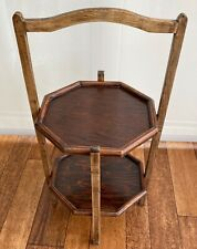 Lovely Vintage Oak 2 Tier Folding Cake Stand