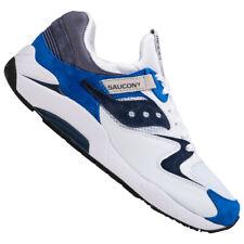 Saucony Grid 9000 caballeros moda retro zapatos zapatillas s70439-01 blanco violeta nuevo