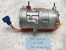17 TESLA MODEL X ELECTRIC A/C AC AIR CONDITIONING COMPRESSOR 1042442-00-J 15-19