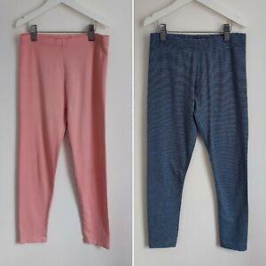 Next + George Girls Pink & Blue Striped Leggings Bundle 11-12 Years