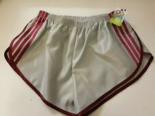 Nylon Satin Sprinter Shorts S to 4XL, Grey-Claret