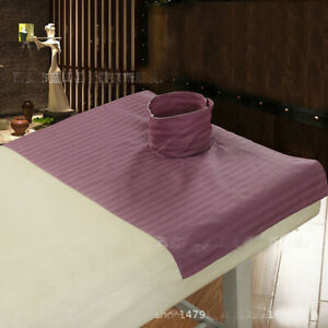 Cotton SPA Massage Bed Flat Sheet Table Couch Cover With Face Breath Hole Salon