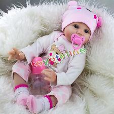 22 '' Lifelike Vinyl Newborn silicone Reborn Baby Gift bambole fatte a mano