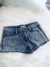 BCBG GENERATION Women Acid Pink Wash Jean Denim Cutoff Booty Shorty Shorts 24 W