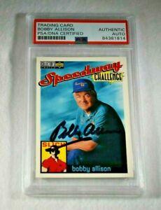 1996 BOBBY ALLISON Signed Upper Deck Speedway Challenge Card-NASCAR Legend-PSA