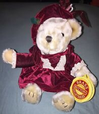 9'' Stuffed Bear - Brass Button Collectables - Pearl - The Bear Of Wealth