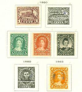 Stamp  New Brunswick Canada 1860-1863