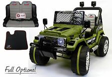 Auto Elettrica Per Bambini Macchina Jeep Radiocomandata 2 Posti 12v Verde