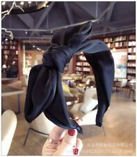 Black Fabric Hair Band Bow Wide Headband Knot Alice Head Band Hair Accessories