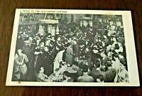 VTG Postcard Night at Hollywood Canteen LA California WWII Sailors Soldiers Army