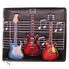WALLET MENS GUITAR MUSIC NOTES NOVELTY VISA CARDS (not leather) LEATHERETTE NEW