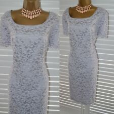 ~ JACQUES VERT ~ Pale Lilac Beaded Lace Dress Size 18 Mother of the Bride