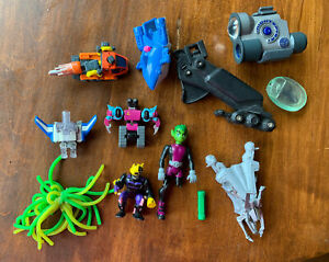 Junk Drawer Mixed Toy Lot of Transformers, Superhero, Vehicles, SpyGear, GEOMAG