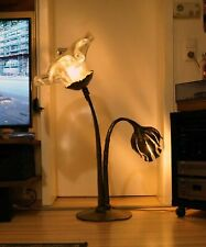 """Design Ampoule """" Doré Bloom """" Salomon Kunstschmiede 30 KG Bronze"""