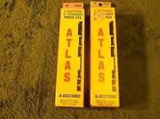 "NOS MINT In Box 3"" Straights Atlas Code 100 Brass Railroad Train Track"