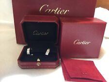 100% authentic Cartier 18k white gold six diamond earrings