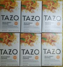 Tazo Wild Sweet Orange Herbal Tea - 6 Boxes - 120 Tea Bags