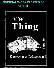 1973 1974 VW Thing Type 181 Service Manual & Parts Book Guide  PDF VIA LINK