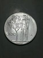 REPUBBLICA ITALIANA - MONETA 100 LIRE - 1987- MINERVA - VARIANTE, 7 UNCINO, n138