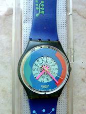 "orologio swatch STANDAR GENTS modello ""PASSION FLOWERS"" GN 703 anno 1990 raro"