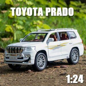 1/24 Model For Toyota Land Cruiser PRADO Diecast SUV Car Toy Kids Gift Pull Back