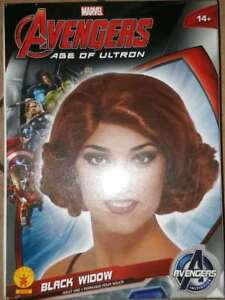 MARVEL AVENGERS BLACK WIDOW Wig Adult Costume Accessory Red Hair
