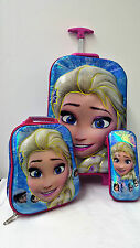 Frozen Elsa School Backpack Rucksack Trolley Travel Lunch Bag Pencil Case Kids B