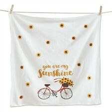 Sunflower Bicycle Your Are My Sunshine Flour Sack Kitchen Towel  New TAG
