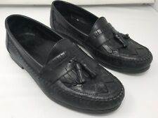 EARTH SHOES  Men's Loafers with Tassels SIZE 8 1/2 Black EUC