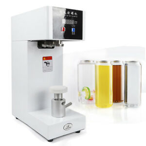 Auto Tin Can Sealer Sealing Machine Aluminum Beer Cola Fruit Seamer 110V 180W US
