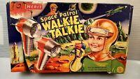 Vintage 1955 Merit Space Patrol Walkie Talkie Toy Set Complete in Box. Rare