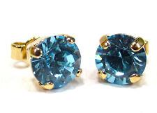 SoHo® Ohrstecker geschliffene Kristalle türkis wasser crystal gold aquamarine