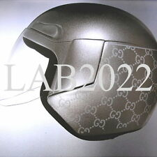 GUCCI TOM FORD SILVER BOOK MOTORCYCLE HELMET THAT GWYNETH TOOLS  AROUND LONDON