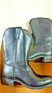 Bronco Womens Boots Vintage Black Size 9 VTG Cowboy Western Rare
