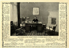 Gonzalo de quesader il cubano ambasciatore nel suo ufficio di Berlino del 1912