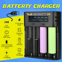 Intelligent LCD Charger 4-Slot For 1865.0/21700/26650 Lithium AA/AAA NimhBattery
