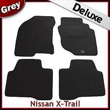 NISSAN X-TRAIL mk1 2001-2007 Completamente Su Misura Lusso 1300g grigio tappetini per AUTO
