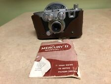 Antique Mercury II Camera With Case & Manual