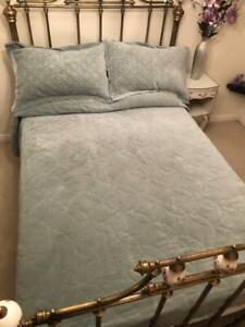 Diana Cowpe Victoriana Bedspread *Stunning French Style Floral Textured Blanket*