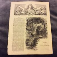 Antique Book Print - Among the Wild Flowers - Gordon Stables - 1889