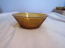 Vintage Indiana Tiara Sandwich Glass Amber/Gold Vegetable Bowl