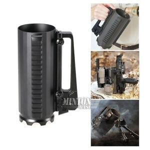 Tactical Anodizing Aluminum Battle Mug Drink Cup W/Picatinny rail & Rear Sight