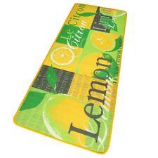 Design velours cuisine COUREUR Citron Tapis de jaune vert 67x180 cm